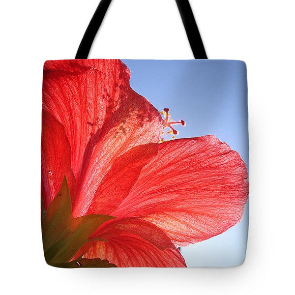 Red Flower In The Sun By Jan Marvin Studios Tote Bag