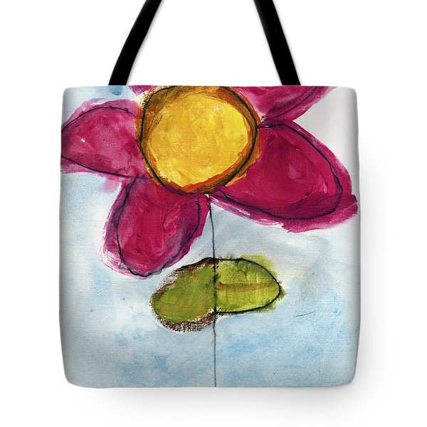 Red Flower Tote Bag by Skip Nall