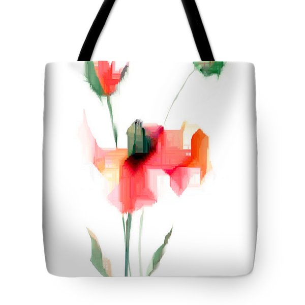 Red Flowers Tote Bag by Rafael Salazar