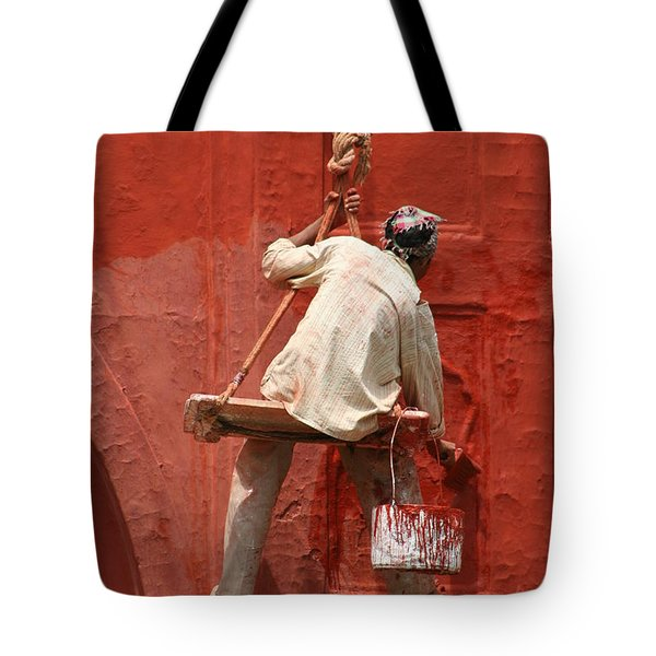 Red Fort Painter Tote Bag