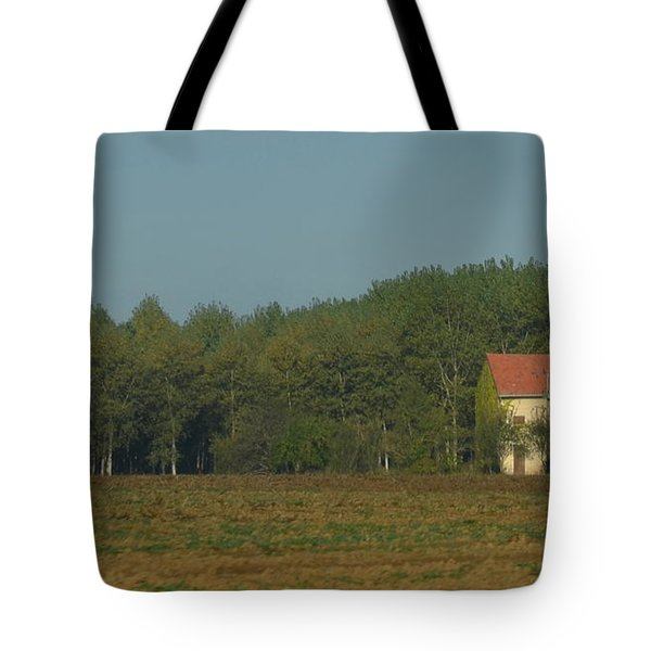 Red French Cottage Tote Bag