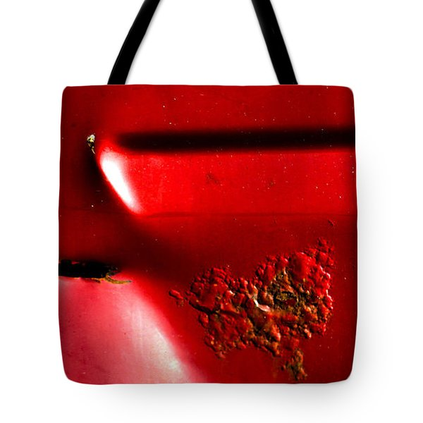 Red Gash Tote Bag