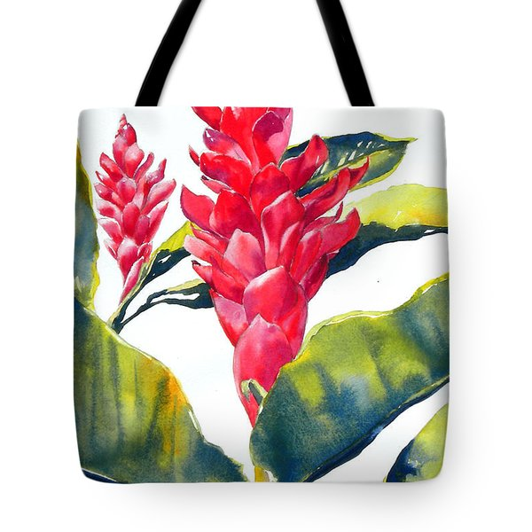 Red Ginger Tote Bag