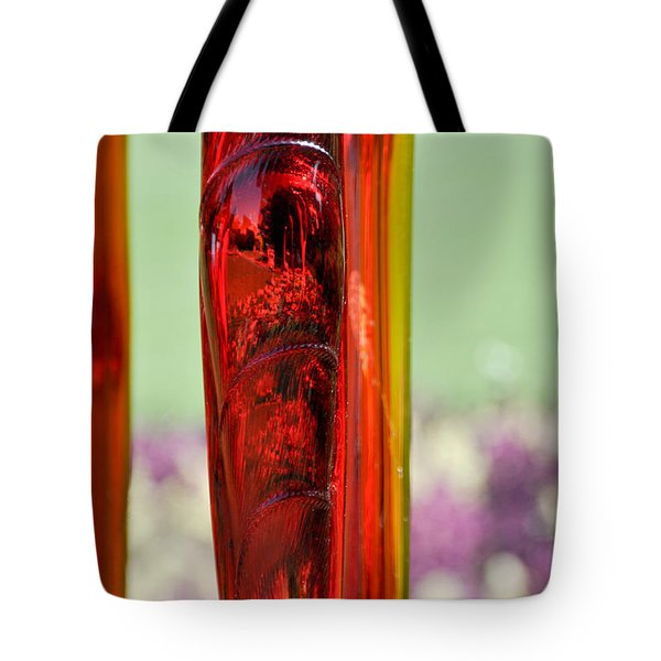 Red Glass Tote Bag by Cheryl McClure