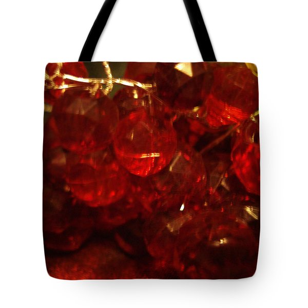 Red Glass Grapes Tote Bag