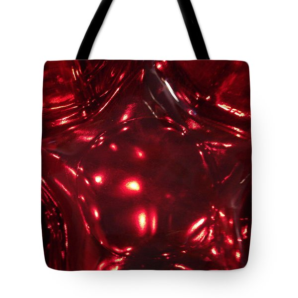 Red Glass Star Tote Bag