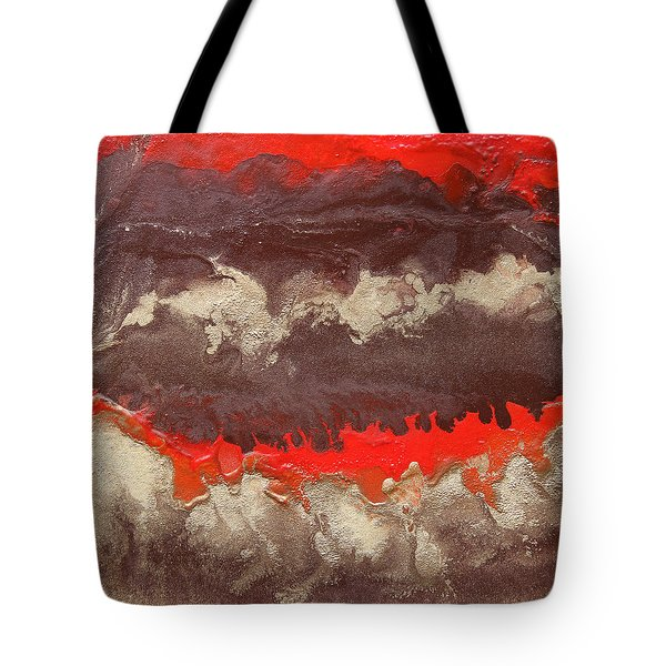 Red Gold And Brown Abstract Tote Bag