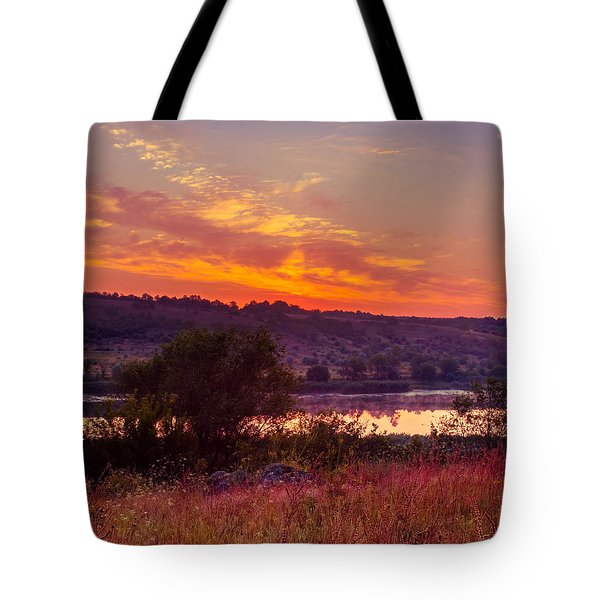 Tote Bag featuring the photograph Red Grass by Dmytro Korol