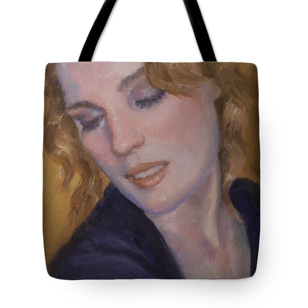 Red Hair Tote Bag by Sarah Parks