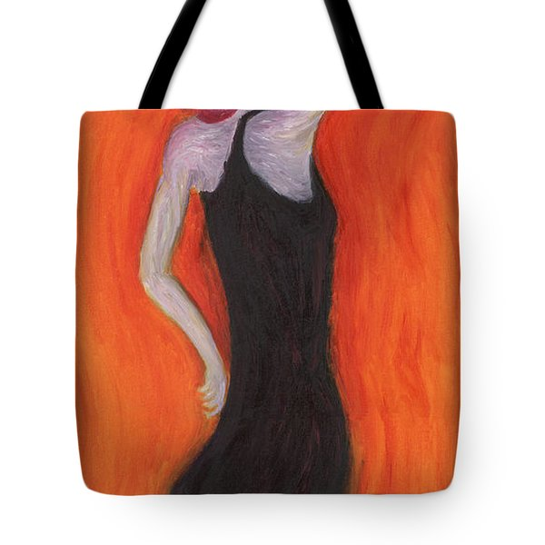 Red Haired Lady Tote Bag