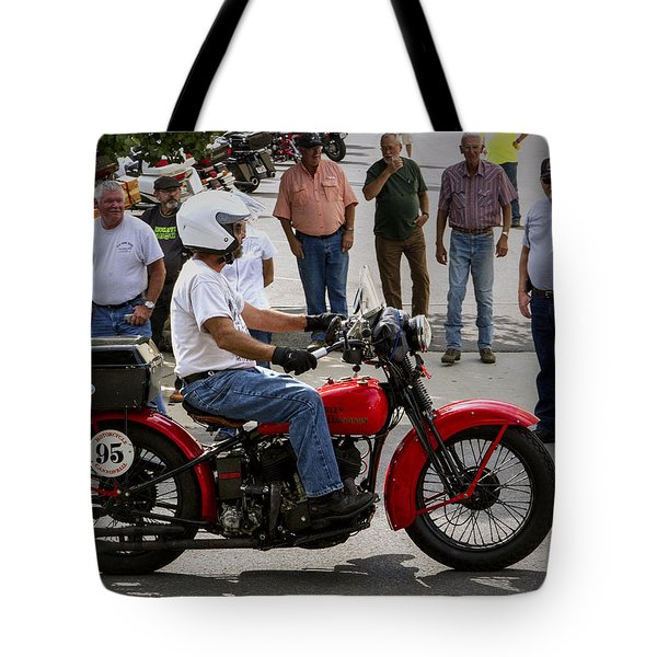 Red Harley 95 Tote Bag