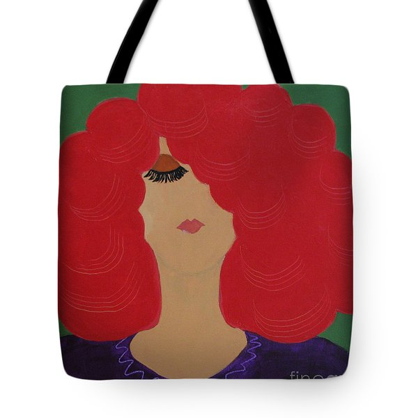 Red Head Tote Bag by Anita Lewis