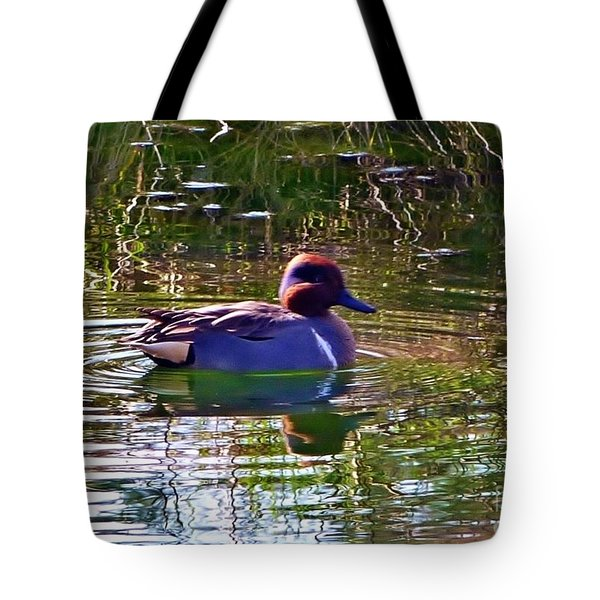 Tote Bag featuring the photograph Red Headed Duck by Susan Garren