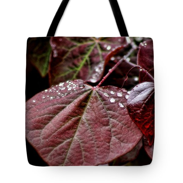 Red Heart Tote Bag by Peggy Hughes