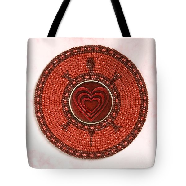 Red Heart Turtle Tote Bag