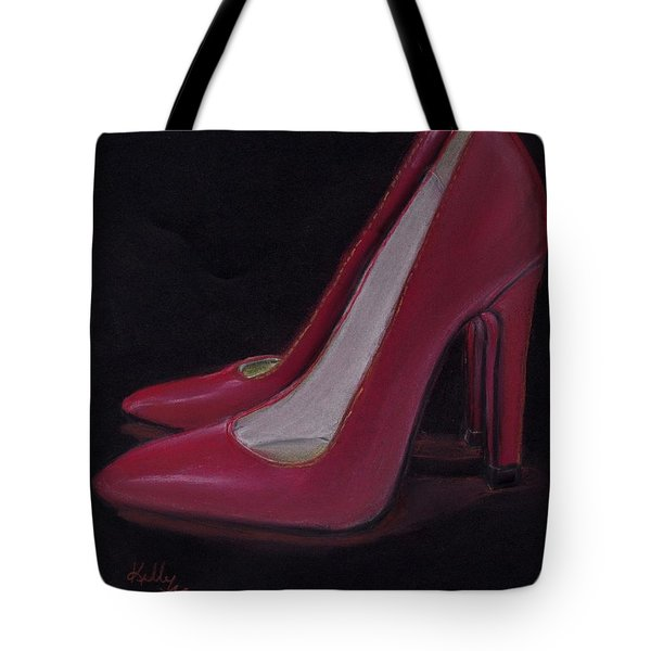 Red Heels Tote Bag by Kelly Mills