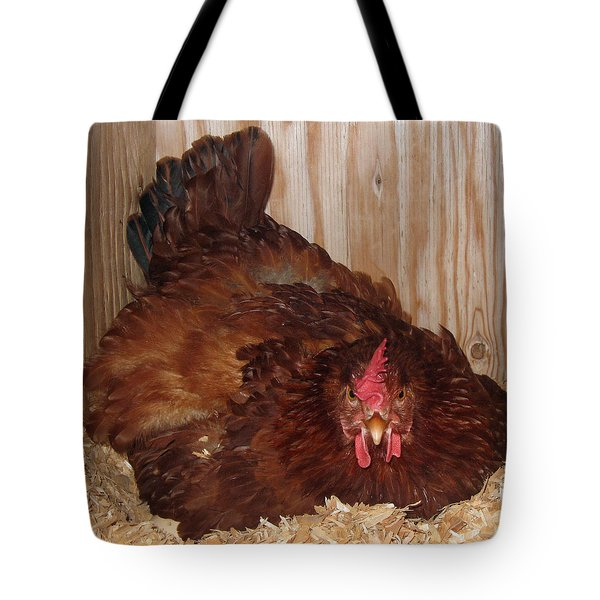 Red Hen Tote Bag by Pamela Walton