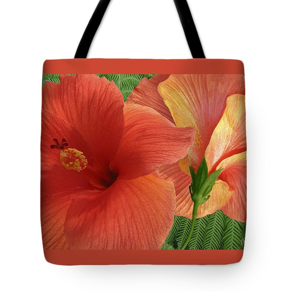 Tote Bag featuring the photograph Red Hibiscus by Ben and Raisa Gertsberg