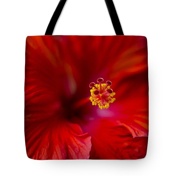 Red Hibiscus Tote Bag by Eduard Moldoveanu