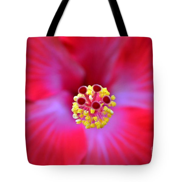 Tote Bag featuring the photograph Red Hibiscus-no1 by Darla Wood