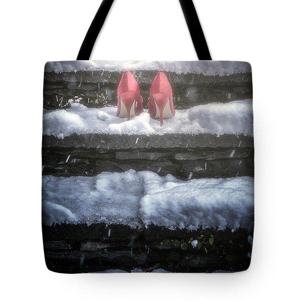 Red High Heels Tote Bag by Joana Kruse