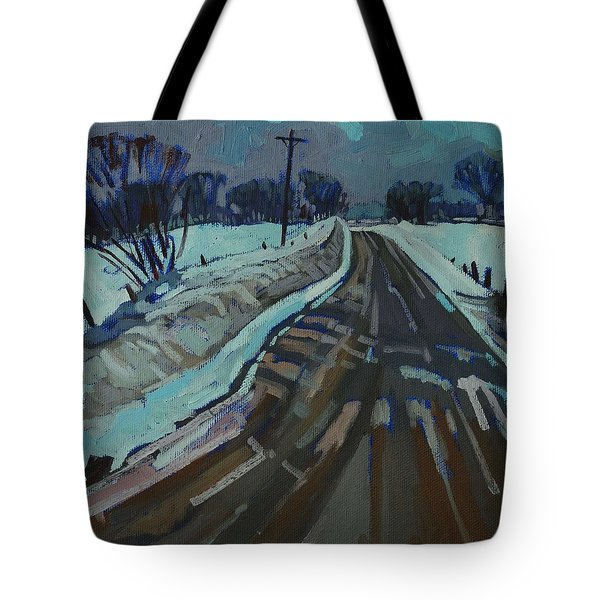 Red Horse Road Tote Bag by Phil Chadwick
