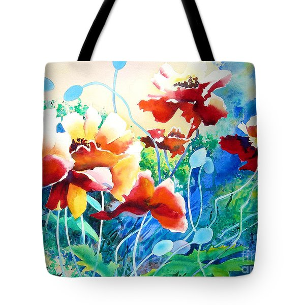 Red Hot Cool Blue Tote Bag by Kathy Braud