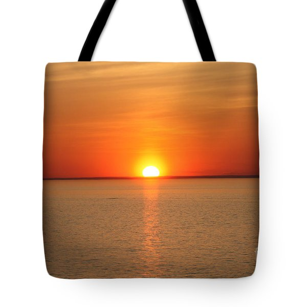 Tote Bag featuring the photograph Red-hot Sunset by John Telfer