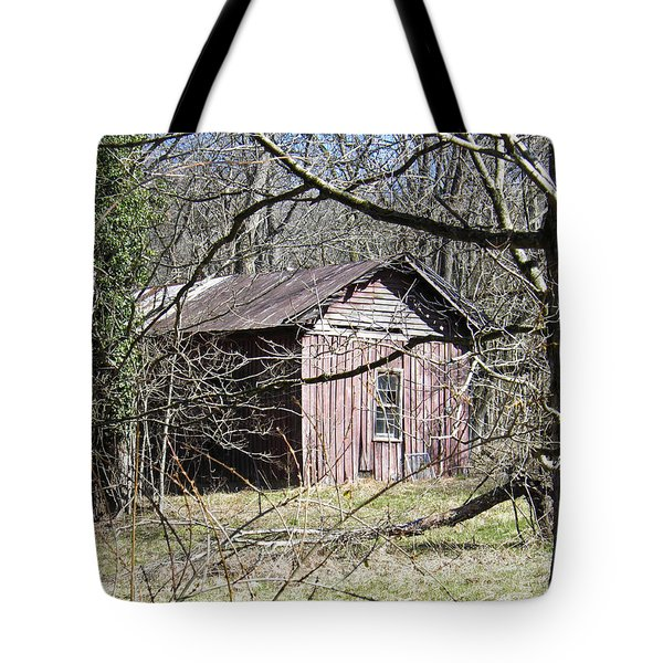Tote Bag featuring the photograph Red House by Nick Kirby