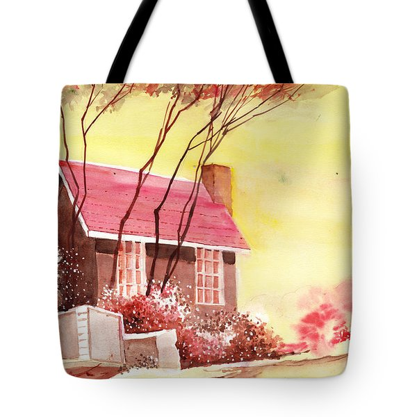 Red House R Tote Bag by Anil Nene