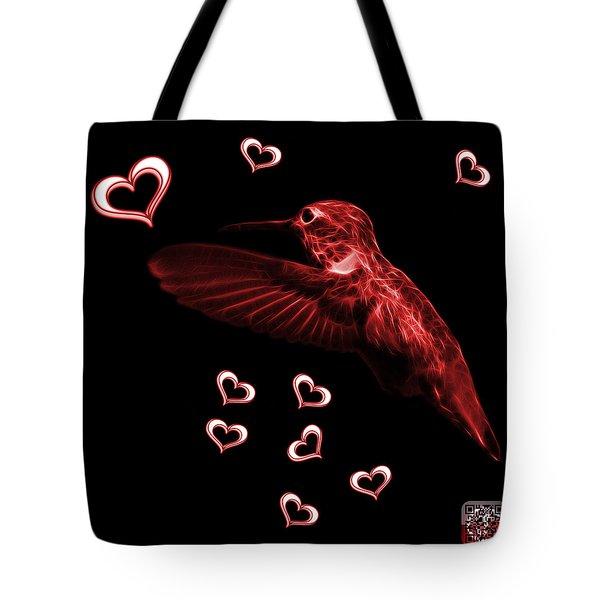 Red Hummingbird - 2055 F M Tote Bag by James Ahn