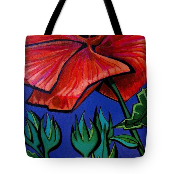Red Ibiscus - Botanical Tote Bag