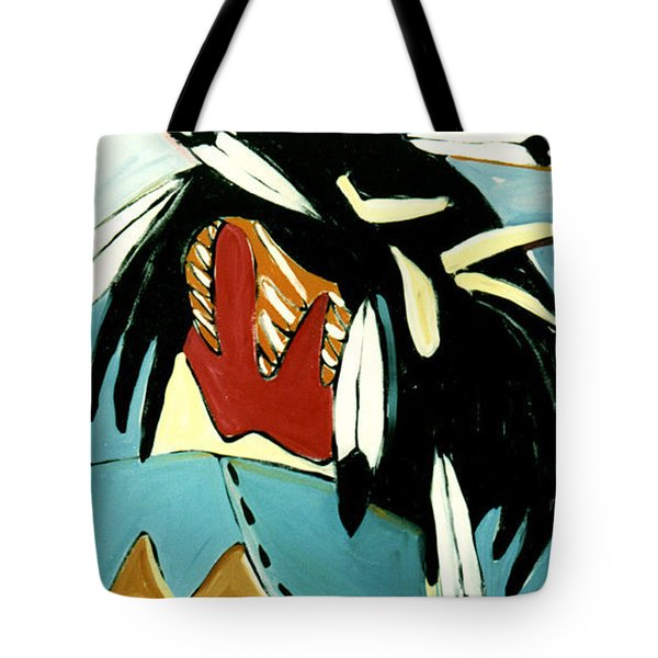 Red Indian Tote Bag by Lance Headlee