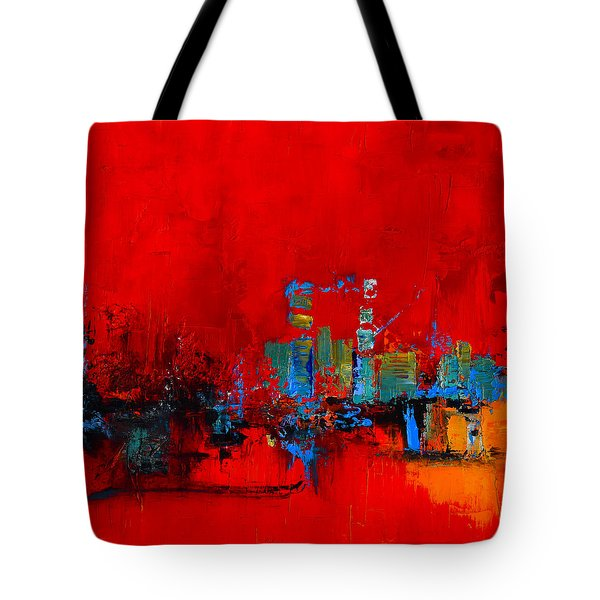 Red Inspiration Tote Bag