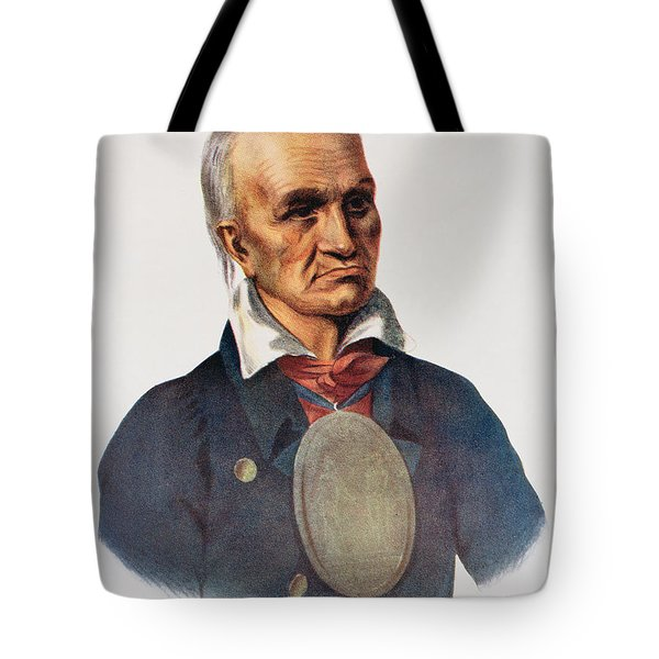 Red Jacket, Seneca War Chief, 1828, Illustration From The Indian Tribes Of North America, Vol.1 Tote Bag