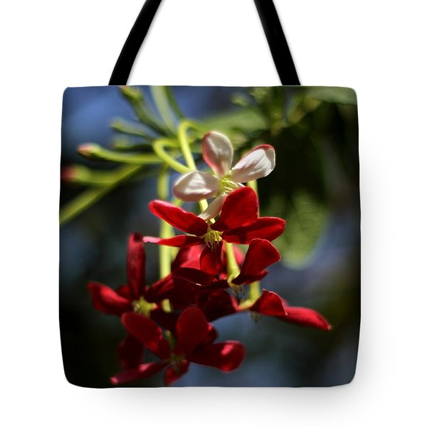 Red Jasmine Blossom Tote Bag by Ramabhadran Thirupattur