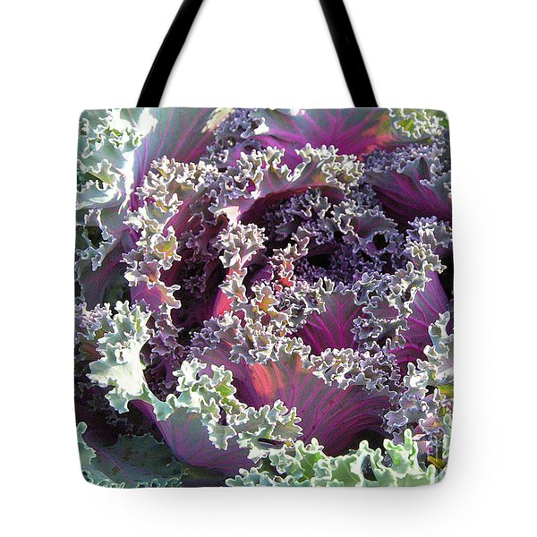 Tote Bag featuring the photograph Red Kale by Mariarosa Rockefeller