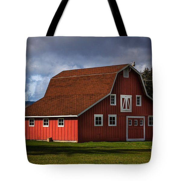 Tote Bag featuring the photograph Red Kirsop Barn by Jean OKeeffe Macro Abundance Art