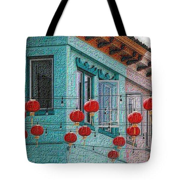 Red Lanterns Tote Bag
