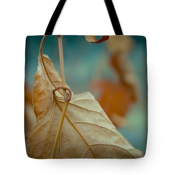 Red Leaf Close-up Tote Bag by Vlad Baciu