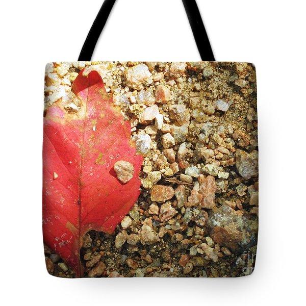 Red Leaf Tote Bag by Venus