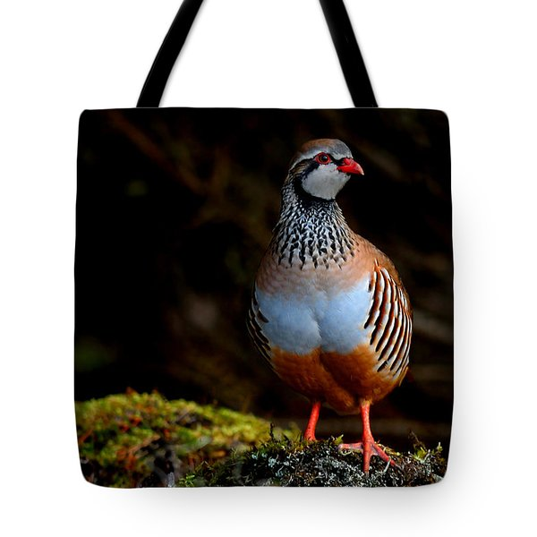 Red-legged Partridge Tote Bag