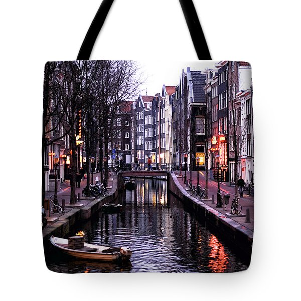 Red Light District Tote Bag by John Rizzuto