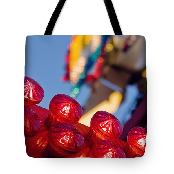 Red Lights At The County Fair Tote Bag
