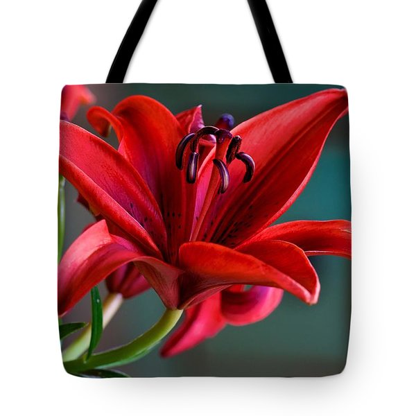 Red Lily Tote Bag