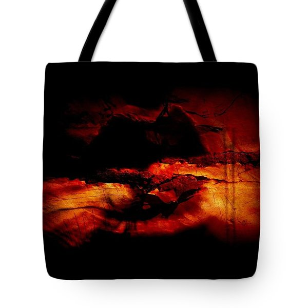 Red Lip Moon Tote Bag