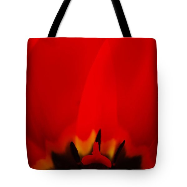 Red Lips Tote Bag by Jani Freimann
