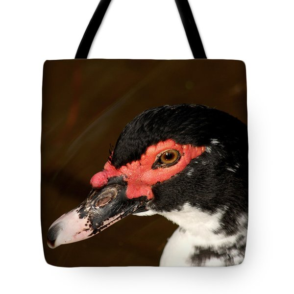 Tote Bag featuring the photograph Red Mask by Bob and Jan Shriner