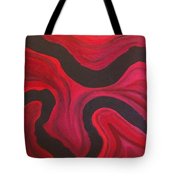 Red Tote Bag by Megan Washington