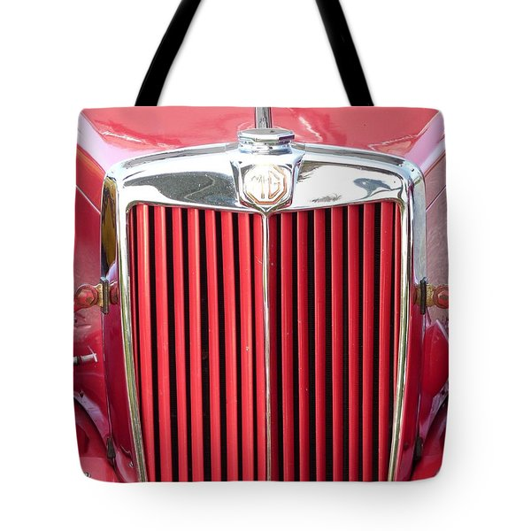 Red Mg Tote Bag